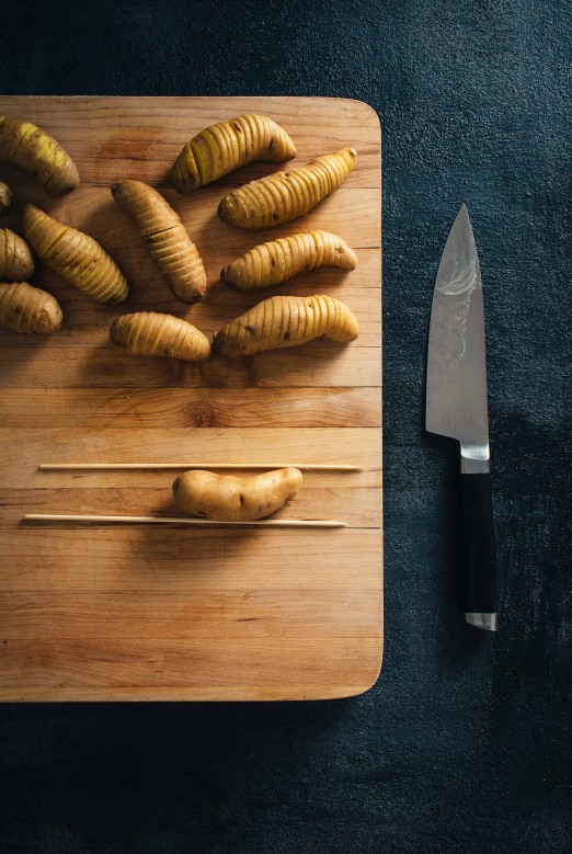 Hasselback Fingerlings & Curry Yogurt | Recipe from I Will Not Eat Oysters