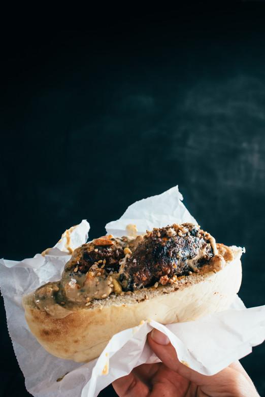 Korean Beef b'Siniyah with kalbi marinade & tahini | I Will Not Eat Oysters Recipe