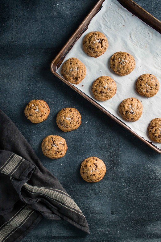 Salted Tahini Chocolate Chip Cookies | From Cake in a Crate + I Will Not Eat Oysters