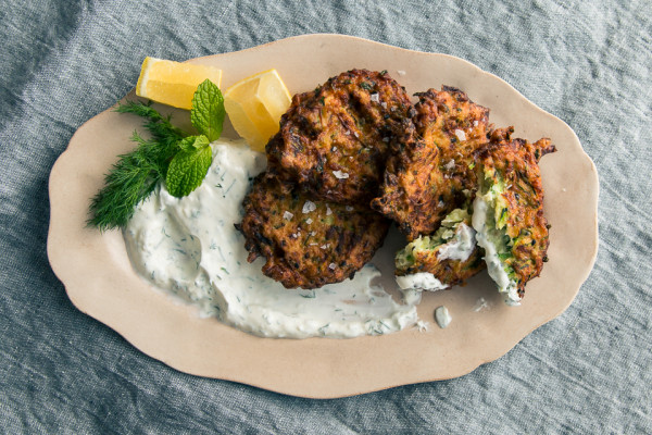 Zucchini + Nigella Fritters from Small Victories | I Will Not Eat Oysters