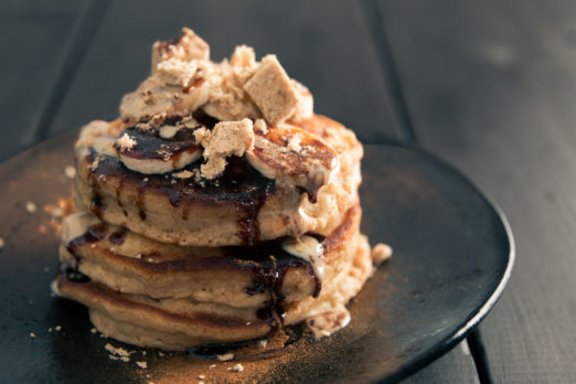 Seed & Mill Cinnamon Halva topped Banana Pancakes for Mother's Day