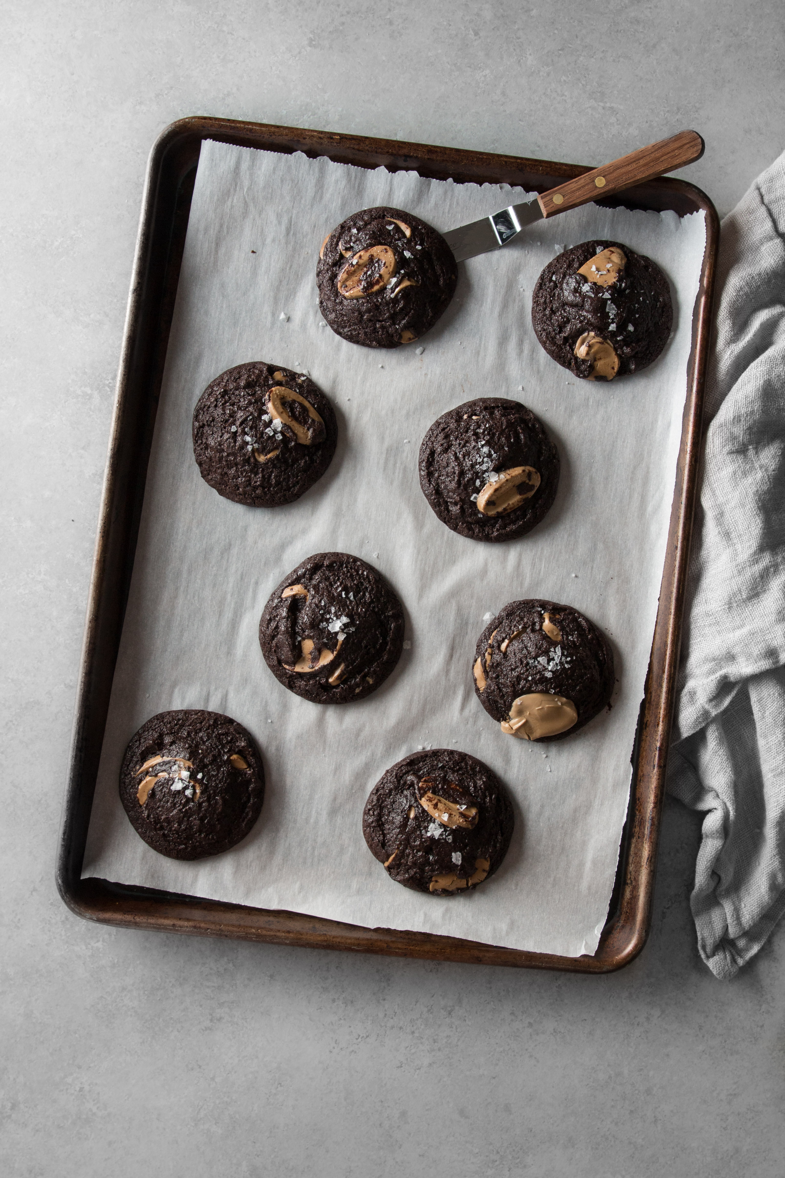 Super Dark Chocolate Cookies with Orelys Feves & Sea Salt | I Will Not Eat Oysters Recipe