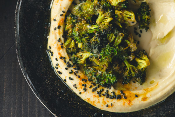 Shawarma Spiced Broccoli Hummus | A recipe from Danielle Oron of I Will Not Eat Oysters