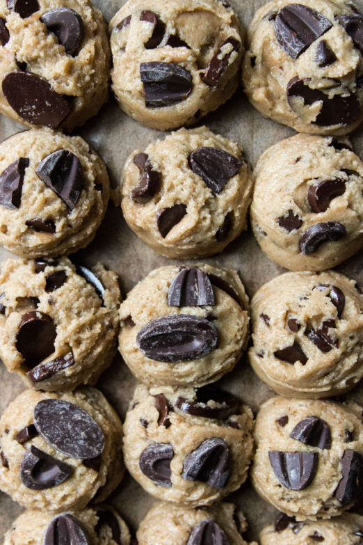 Brown Butter Tahini Rye Chocolate Chip Cookie Cups from Danielle at I Will Not Eat Oysters