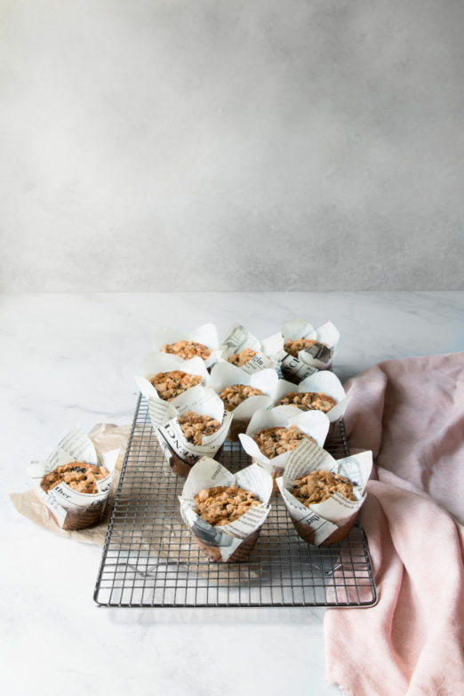 Banana Tahini Streusel Muffins | Recipe from Danielle at I Will Not Eat Oysters