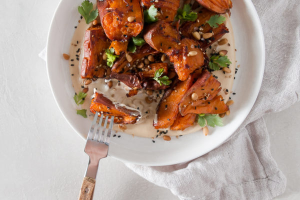 Yams with Whipped Miso Tahini