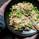 Pastina with Sausage, Peas, and Za'atar Recipe