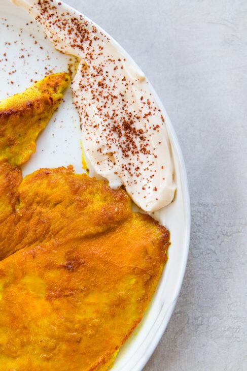 Turmeric Chicken with Shredded Sumac Slaw