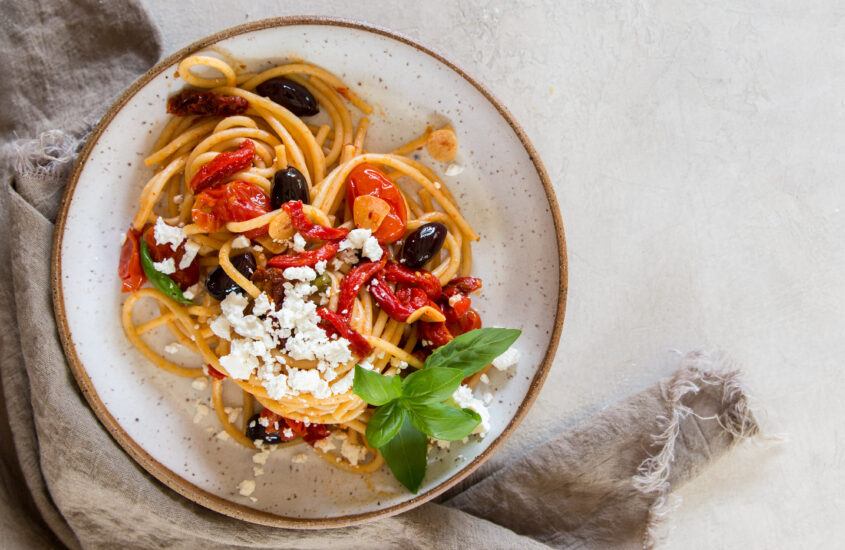 Spaghetti alla Roasted Puttanesca