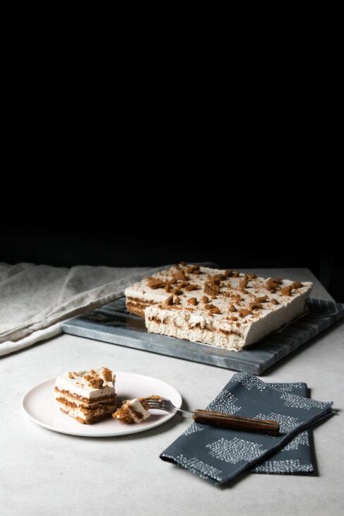 Lotus Biscoff and Earl Grey Cream Icebox Cake